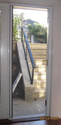 Langley window screen for Retractable screen door for outswing door